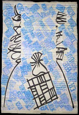 Sisyphe heureux tapis arlequin